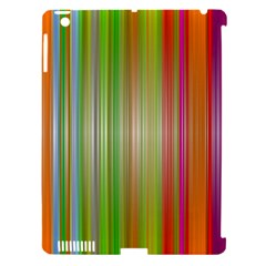 Rainbow Stripes Vertical Colorful Bright Apple Ipad 3/4 Hardshell Case (compatible With Smart Cover) by Mariart