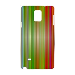 Rainbow Stripes Vertical Colorful Bright Samsung Galaxy Note 4 Hardshell Case by Mariart