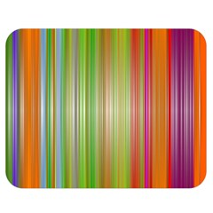 Rainbow Stripes Vertical Colorful Bright Double Sided Flano Blanket (medium)  by Mariart