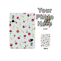 Root Vegetables Pattern Carrots Playing Cards 54 (mini)  by Mariart