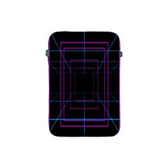 Retro Neon Grid Squares And Circle Pop Loop Motion Background Plaid Purple Apple Ipad Mini Protective Soft Cases by Mariart