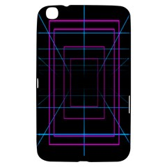 Retro Neon Grid Squares And Circle Pop Loop Motion Background Plaid Purple Samsung Galaxy Tab 3 (8 ) T3100 Hardshell Case  by Mariart