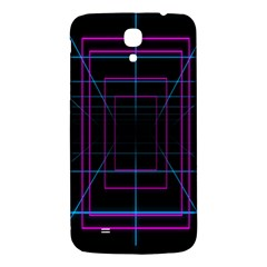 Retro Neon Grid Squares And Circle Pop Loop Motion Background Plaid Purple Samsung Galaxy Mega I9200 Hardshell Back Case by Mariart