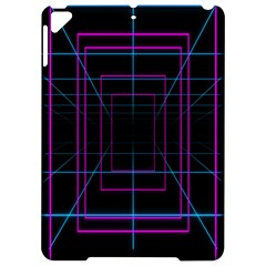 Retro Neon Grid Squares And Circle Pop Loop Motion Background Plaid Purple Apple Ipad Pro 9 7   Hardshell Case by Mariart
