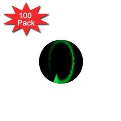 Rotating Ring Loading Circle Various Colors Loop Motion Green 1  Mini Magnets (100 Pack)  by Mariart