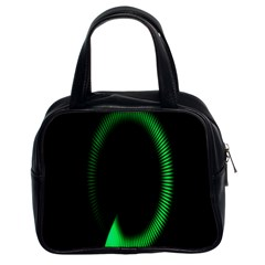 Rotating Ring Loading Circle Various Colors Loop Motion Green Classic Handbags (2 Sides) by Mariart