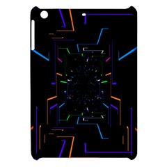 Seamless 3d Animation Digital Futuristic Tunnel Path Color Changing Geometric Electrical Line Zoomin Apple Ipad Mini Hardshell Case by Mariart