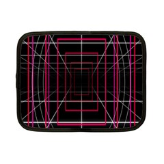 Retro Neon Grid Squares And Circle Pop Loop Motion Background Plaid Netbook Case (small)  by Mariart