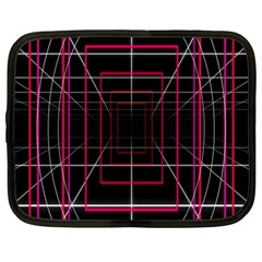 Retro Neon Grid Squares And Circle Pop Loop Motion Background Plaid Netbook Case (large) by Mariart
