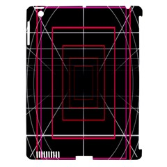 Retro Neon Grid Squares And Circle Pop Loop Motion Background Plaid Apple Ipad 3/4 Hardshell Case (compatible With Smart Cover) by Mariart