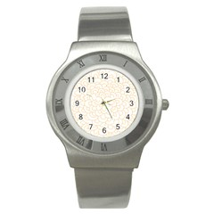 Rosette Flower Floral Stainless Steel Watch by Mariart
