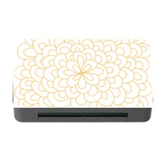 Rosette Flower Floral Memory Card Reader With Cf by Mariart