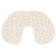 Rosette Flower Floral Travel Neck Pillows by Mariart
