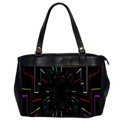 Seamless 3d Animation Digital Futuristic Tunnel Path Color Changing Geometric Electrical Line Zoomin Office Handbags by Mariart