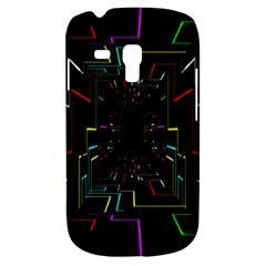 Seamless 3d Animation Digital Futuristic Tunnel Path Color Changing Geometric Electrical Line Zoomin Galaxy S3 Mini by Mariart