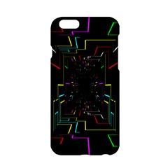 Seamless 3d Animation Digital Futuristic Tunnel Path Color Changing Geometric Electrical Line Zoomin Apple Iphone 6/6s Hardshell Case by Mariart