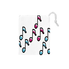 Sound Advice Royalty Free Music Blue Red Drawstring Pouches (small)  by Mariart