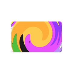 Spiral Digital Pop Rainbow Magnet (name Card) by Mariart