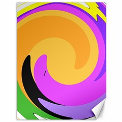 Spiral Digital Pop Rainbow Canvas 36  X 48   by Mariart