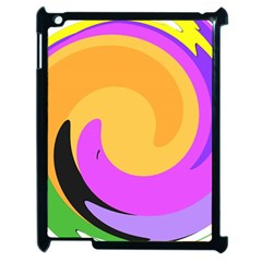Spiral Digital Pop Rainbow Apple Ipad 2 Case (black) by Mariart