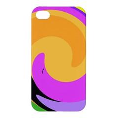Spiral Digital Pop Rainbow Apple Iphone 4/4s Hardshell Case by Mariart