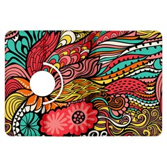 Seamless Texture Abstract Flowers Endless Background Ethnic Sea Art Kindle Fire Hdx Flip 360 Case by Mariart