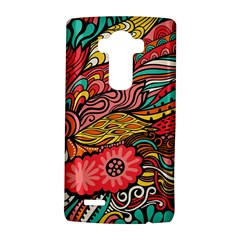 Seamless Texture Abstract Flowers Endless Background Ethnic Sea Art Lg G4 Hardshell Case by Mariart