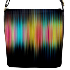 Sound Colors Rainbow Line Vertical Space Flap Messenger Bag (s) by Mariart