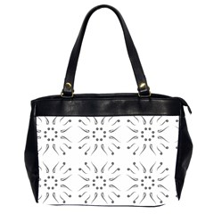 Squid Flower Floral Polka Dots Sunflower Office Handbags (2 Sides)  by Mariart