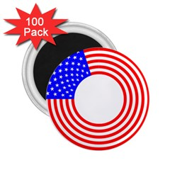 Stars Stripes Circle Red Blue 2 25  Magnets (100 Pack)  by Mariart