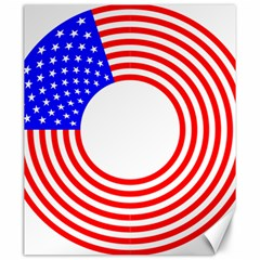 Stars Stripes Circle Red Blue Canvas 20  X 24   by Mariart