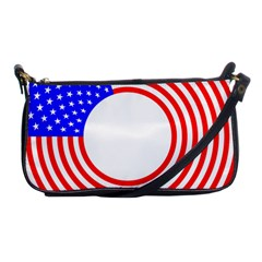 Stars Stripes Circle Red Blue Shoulder Clutch Bags by Mariart