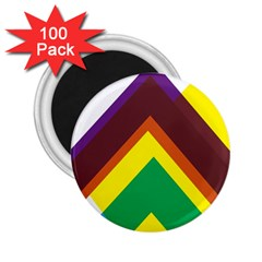 Triangle Chevron Rainbow Web Geeks 2 25  Magnets (100 Pack)  by Mariart