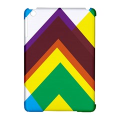 Triangle Chevron Rainbow Web Geeks Apple Ipad Mini Hardshell Case (compatible With Smart Cover) by Mariart