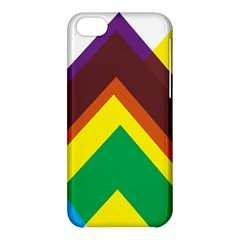 Triangle Chevron Rainbow Web Geeks Apple Iphone 5c Hardshell Case by Mariart