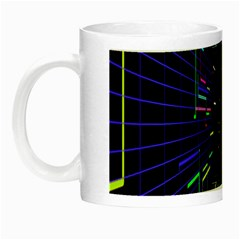 Seamless 3d Animation Digital Futuristic Tunnel Path Color Changing Geometric Electrical Line Zoomin Night Luminous Mugs by Mariart