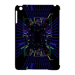 Seamless 3d Animation Digital Futuristic Tunnel Path Color Changing Geometric Electrical Line Zoomin Apple Ipad Mini Hardshell Case (compatible With Smart Cover) by Mariart