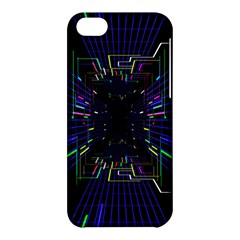 Seamless 3d Animation Digital Futuristic Tunnel Path Color Changing Geometric Electrical Line Zoomin Apple Iphone 5c Hardshell Case by Mariart