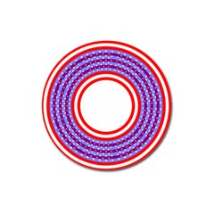 Stars Stripes Circle Red Blue Space Round Magnet 3  (round) by Mariart