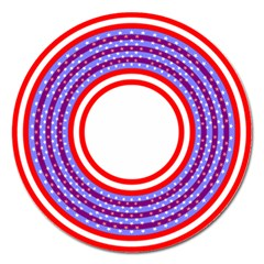Stars Stripes Circle Red Blue Space Round Magnet 5  (round) by Mariart