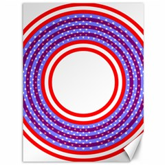 Stars Stripes Circle Red Blue Space Round Canvas 36  X 48   by Mariart