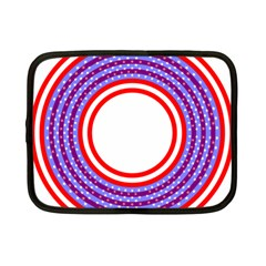 Stars Stripes Circle Red Blue Space Round Netbook Case (small)  by Mariart