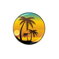 Sunset Summer Hat Clip Ball Marker (4 Pack) by Mariart