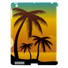 Sunset Summer Apple Ipad 3/4 Hardshell Case (compatible With Smart Cover) by Mariart