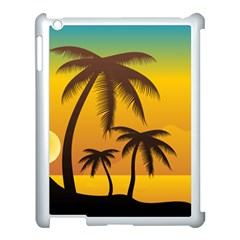 Sunset Summer Apple Ipad 3/4 Case (white) by Mariart