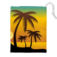 Sunset Summer Drawstring Pouches (xxl) by Mariart