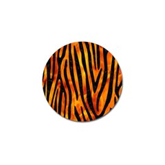 Skin4 Black Marble & Fire Golf Ball Marker (4 Pack) by trendistuff