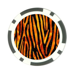 Skin4 Black Marble & Fire (r) Poker Chip Card Guard (10 Pack) by trendistuff