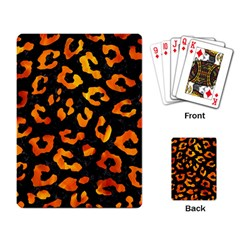 Skin5 Black Marble & Fire (r) Playing Card by trendistuff