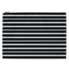 Tribal Stripes Black White Cosmetic Bag (xxl)  by Mariart